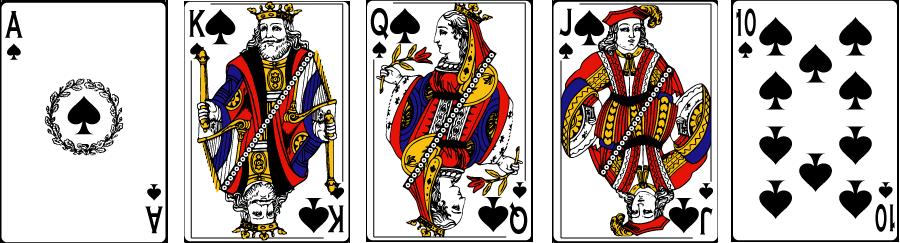 Poker same suit hand